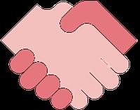 Zwei Hände gemeinsam